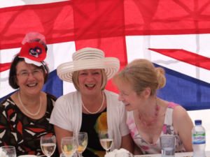 Having fun at the Jubilee Party 2012.